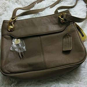 Taupe Leather Purse by Aurielle - NWT
